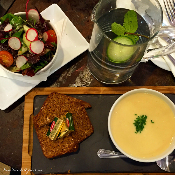 soda bread and soup in dublin