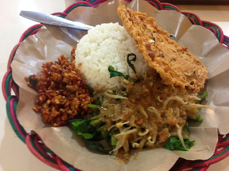 Nasi pecel in Indonesia